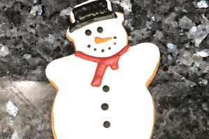 Snowman Cookie  - delivery menu
