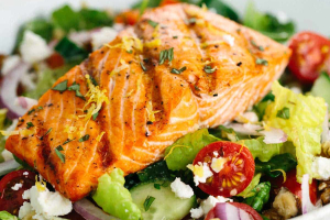 Grilled Salmon Salad - delivery menu