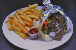 Lamb Gyro Pita Sandwich & Side - delivery menu