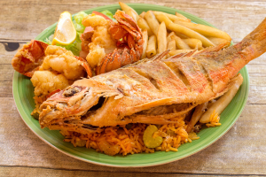 10. Red Snapper Platter - delivery menu