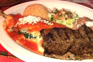 Combination #13: Chile Relleno & Half Carne Asada - delivery menu