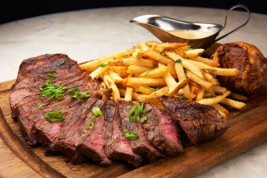 14 oz NY Steak Frites - delivery menu