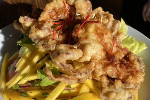 Soft-Shell Crab with Mango Salad   - delivery menu