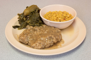 Smothered Pork Chops Platter - delivery menu
