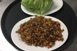9. 4 Minced Chicken in Lettuce Cup - delivery menu