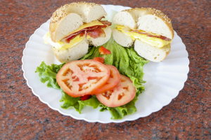 Bagel with Bacon Cream Cheese - delivery menu