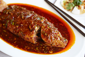 312. Stewed Whole Fish with Chili Bean Sauce with Bone - delivery menu