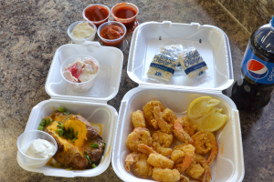 12 Large Shrimp Combo Meal - delivery menu