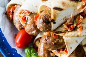 Hot Sausage Wrap - delivery menu