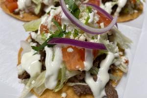 3 Carne Asada Tostadas (Beef) - delivery menu
