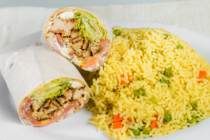 L5 - Grilled Chicken Greek Salad Wrap - delivery menu