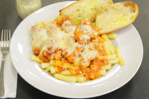Baked Pasta Chicken Parmesan - delivery menu