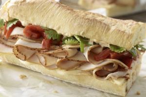 Deluxe Cracked Pepper Turkey Sandwich - delivery menu