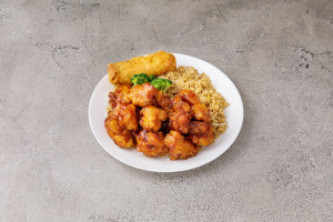 C18. General Tso's Chicken Combination Plate - delivery menu