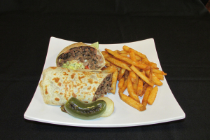 Burrito Combinado con Papas - delivery menu