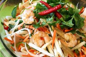 B1. Lotus Salad with Shrimp and Pork - delivery menu