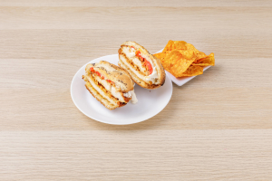 Chicken Cutlet, Fresh Mozzarella and Roasted Peppers Sandwich - delivery menu