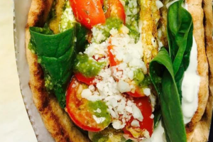 Mediterranean Egg White Pita Sandwich - delivery menu