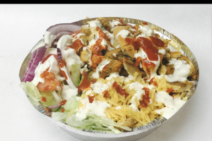 Chicken over rice - delivery menu