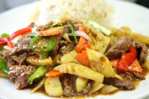 114. Nuer Pad Prig Pao - delivery menu