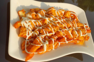 Loaded Buffalo Chicken Fries - delivery menu