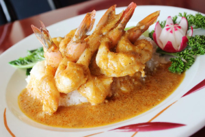 Jumbo Shrimp Massaman Curry - delivery menu
