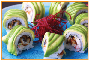 Eel and Avocado Roll - delivery menu
