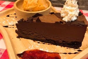 Choco Mousse Cake & Thai Tea Ice Cream - delivery menu