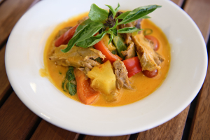 Red Curry Duck Dinner** - delivery menu