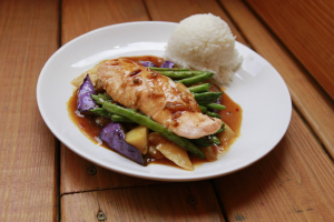 Grilled Salmon Dinner ** - delivery menu