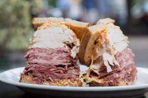 9. Fresh Roasted Turkey, Pastrami and Tongue Sandwich - delivery menu