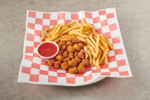 13. Popcorn Chicken with Fries - delivery menu