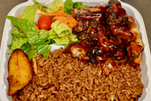 Boneless Jerk Chicken Dinner - delivery menu