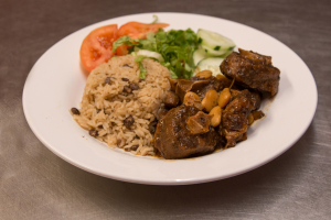 Oxtail with beans - delivery menu
