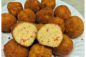 Pepperoni & Cheddar Rice Balls - delivery menu
