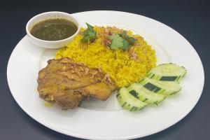 Chicken with Yellow Rice ( Chicken Biryani / Kao Mook Gai) - delivery menu