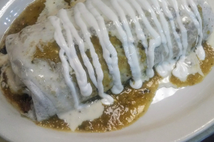 Chile Verde Burrito - delivery menu