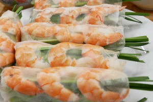 A3. Two Fresh Summer Rolls (2) - delivery menu