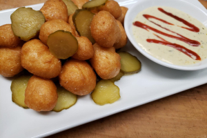 Cheese Curds with Spicy Pickles - delivery menu