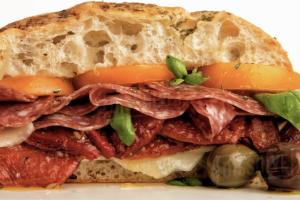 Deluxe Beef Salami Sandwich - delivery menu