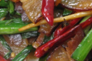 149. Sauteed Preserved Pork with Green Leek蒜苗腊肉 - delivery menu