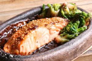 Ginger Salmon Plate - delivery menu