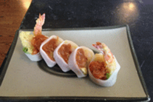 Naked Rose Roll - delivery menu