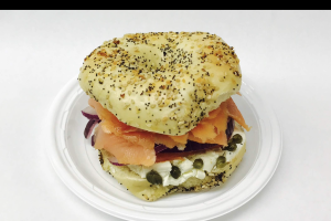 Bagel with Cream Cheese and Nova - delivery menu