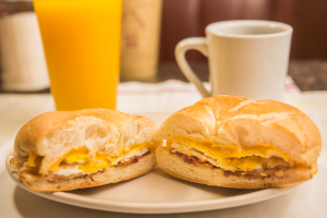 2 Eggs Sandwich with Meat - delivery menu