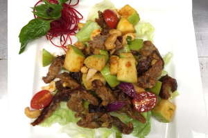 Crispy Duck with Green Apple Salad - delivery menu