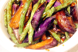 Sauteed Eggplant with String Bean - delivery menu