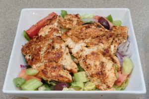Grilled Chicken Over a Garden Salad - delivery menu