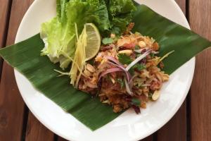 Nam Sod Khao Tod (Crispy Rice Salad) - delivery menu