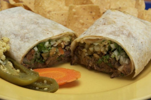 7. Meat, Beans and Cheese Burrito - delivery menu